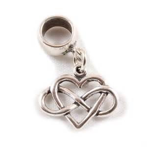Infinity Charm Infinity Sterling Silver Dangle Charm Carrier Bead