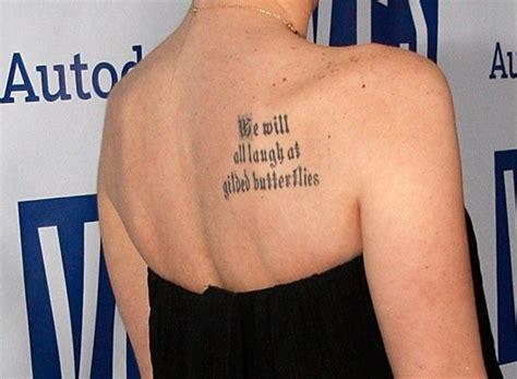 whose deep tattoo is this celebrity tattoos zimbio