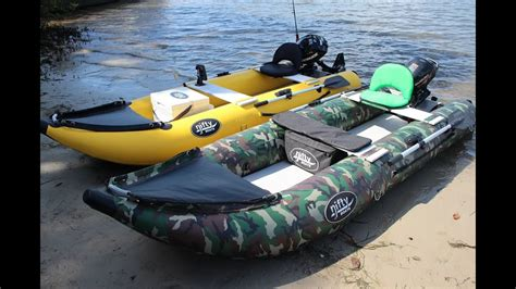 inflatable boat fishing youtube nifty boat inflatable fishing kayak with outboard youtube