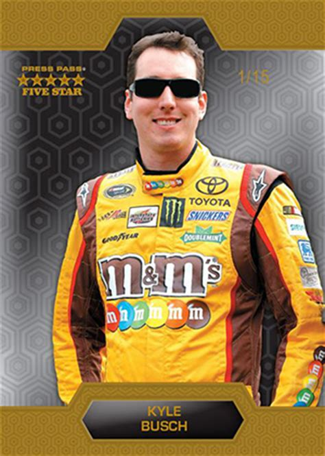 kyle racing books 2014 press pass five racing cards checklist set info