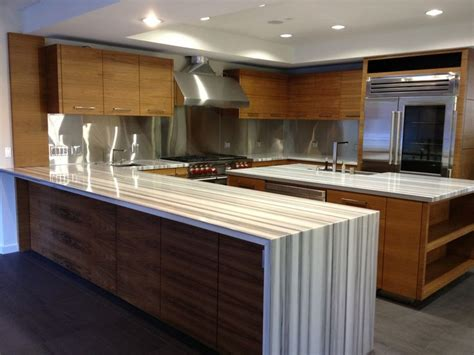 waterfall countertop kitchen design inspiration - Waterfall Countertop