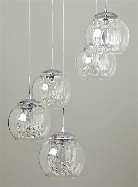 Crystal Chandelier Hall Smoke Nakita Cluster Pendant Ceiling Lights Lighting