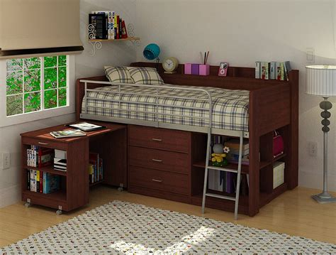 Buy Loft Bed With Desk For Small Room Space Bed With Desk