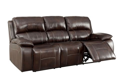 Ruth Reclining Sofa Cm6783br In Brown Leather Match W Options Leather Match Sofa