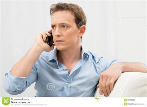 Or The Phone Serious Talking On Phone Stock Photo Image 38999494