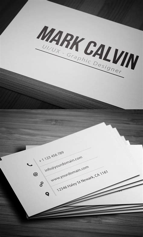 single business card template 25 best ideas about business cards on