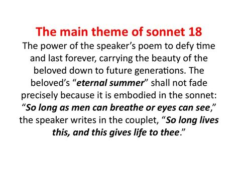 themes of the facebook sonnet sonnet 18 theme gallery