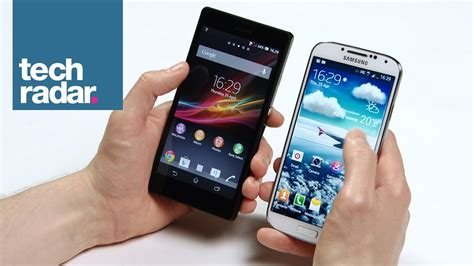 samsung galaxy s4 review techradar samsung galaxy s4 vs xperia z comparison review youtube