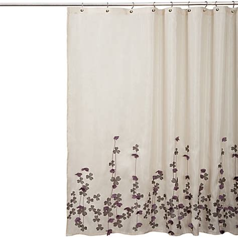 Flower Drop Fabric Shower Curtain Bed Bath Beyond