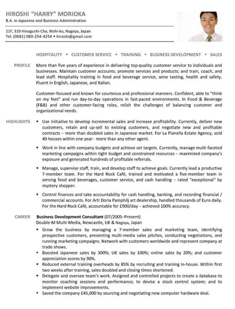 Business Development Resume by International Business International Business Sle Resume
