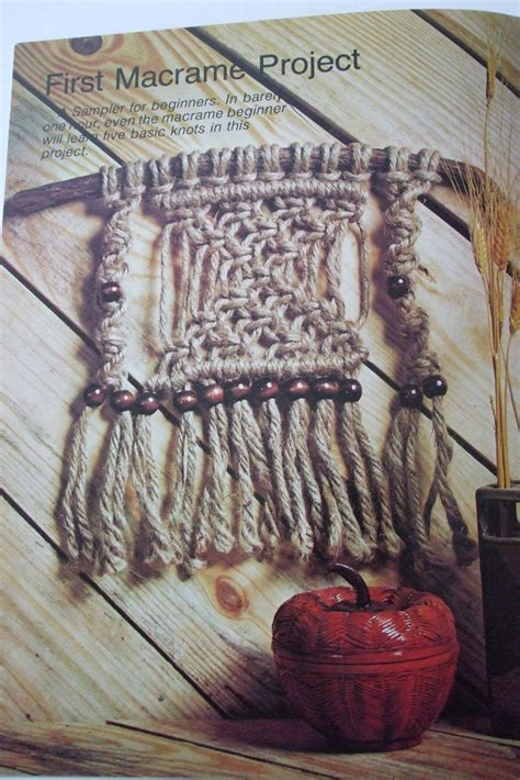 Beginner Macrame - second silver macrame for beginners 12 patterns book