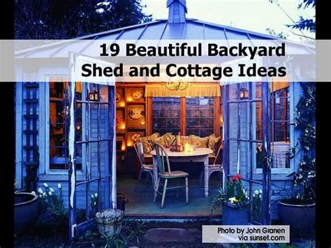 Backyard Landscaping Ideas On A Budget by 19 Beautiful Backyard Shed And Cottage Ideas