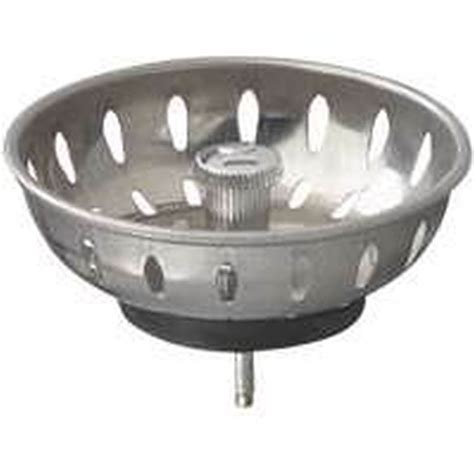Replacement Sink Strainer Basket plumbpak pp820 22 replacement sink basket strainer with fixed post and stopper stainless steel