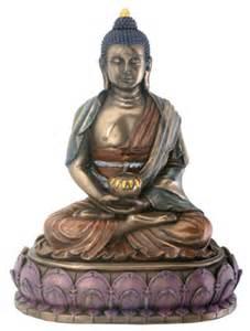 Lotus Statue Amitabha Buddha On Lotus Statue