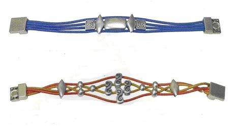 como hacer pulseras de cuero y abalorios abalorios y otras joyas pulseras de cuero y zamak ii