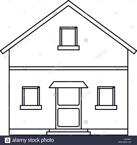 house outline outline front view house home stock vector art