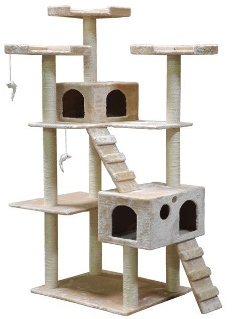 cat tree go pet club cat tree 50w x 26l x 72h beige