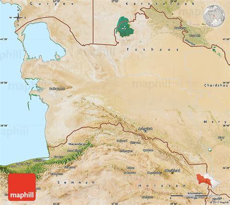 physical map of turkmenistan turkmenistan satelliten karte
