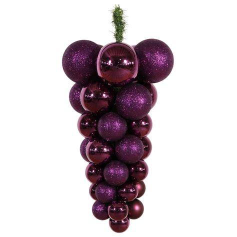 vickerman 24 inch grape cluster ornament