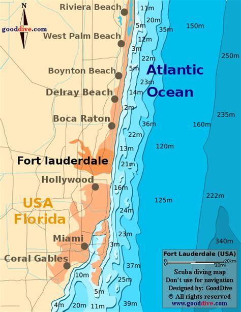 fort lauderdale map fort lauderdale map gooddive