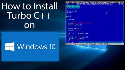 dosbox tutorial windows 10 turbo c compiler for windows 7 free download