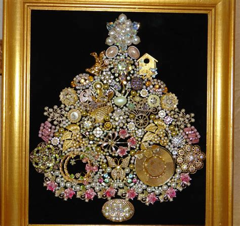 how to make a vintage jewelry tree jeweled tree fabulous vintage jewelry in pink