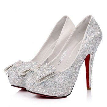 silver high heels with bows silver heels with bow qu heel
