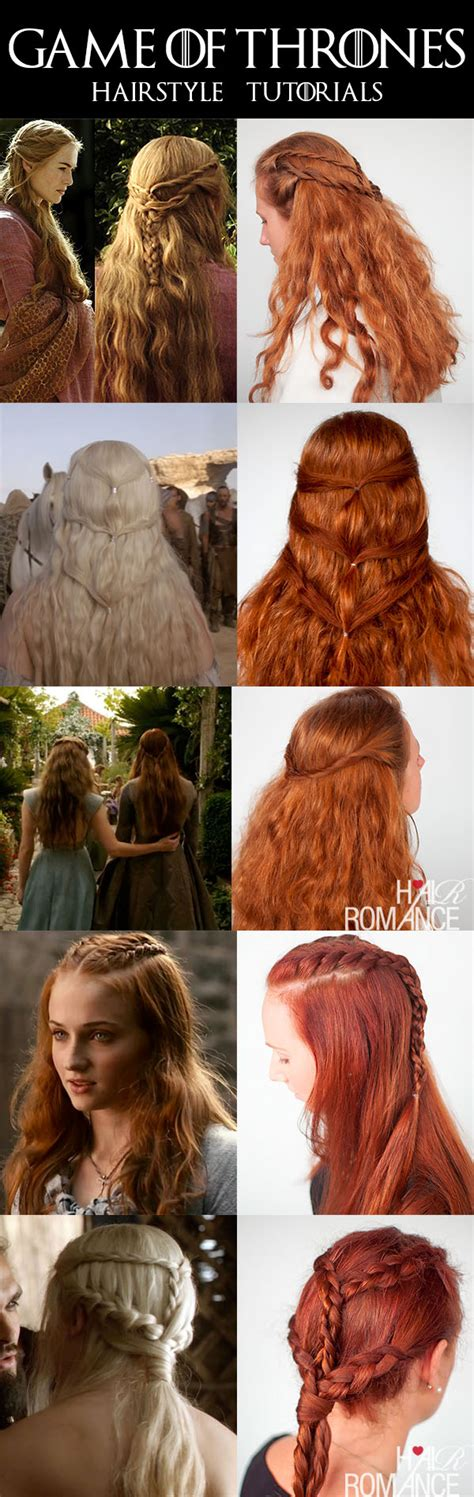 hairstyles tutorial book game of thrones hairstyle tutorials hair romance books