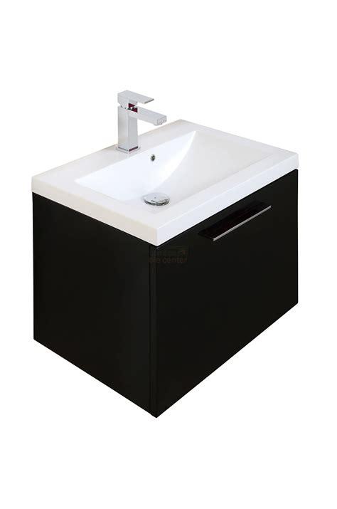 600mm Wall Hung Vanity Unit by Black Wall Hung 600mm Vanity Unit Basin