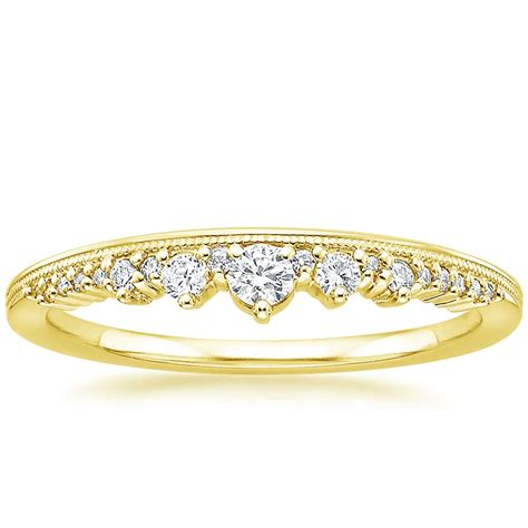 crown ring in 18k yellow gold