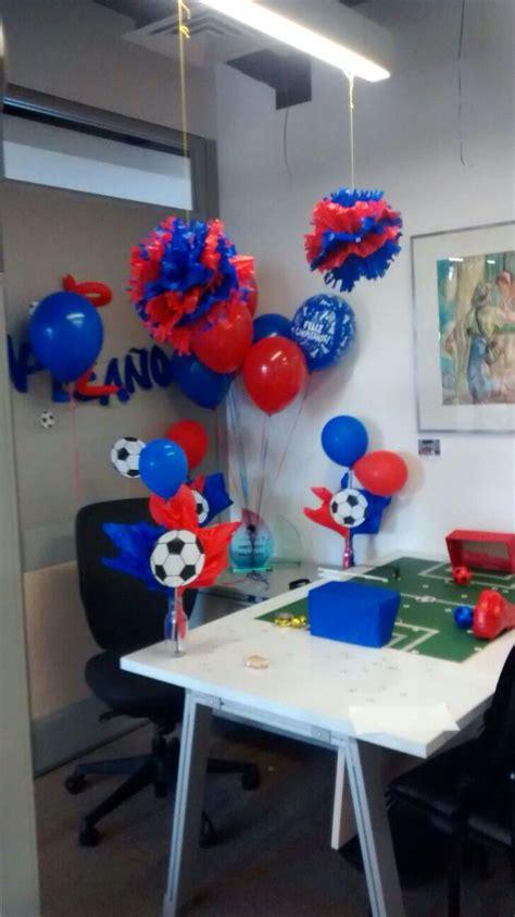 decoracion futbolera cumpleanos de oficina manualidades decoracion de cumpleanos