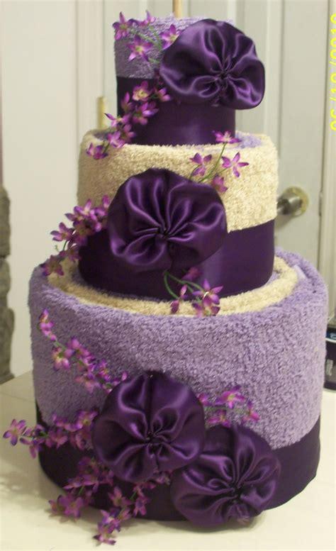 Bridal Shower Idea Towel Wedding Cake by Precious Memories Scrapbooking Towel Cake Wedding Shower Gift