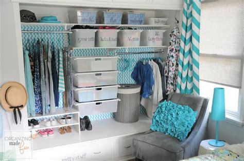 turquoise girls teen tween closet organized