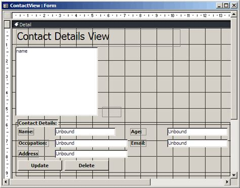 design form database ms access update table from unbound forms makecontrol