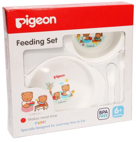 Pigeon Spoon Fork Set With Travel Import Sendok Makan Bayi pigeon baby products