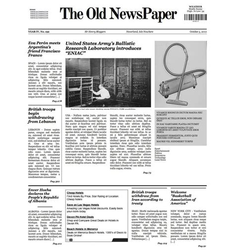 theme newspaper wordpress 2015 the old newspaper wp theme v1 by lysergicstudio on deviantart