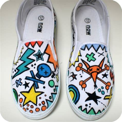 customised canvas shoes clothing