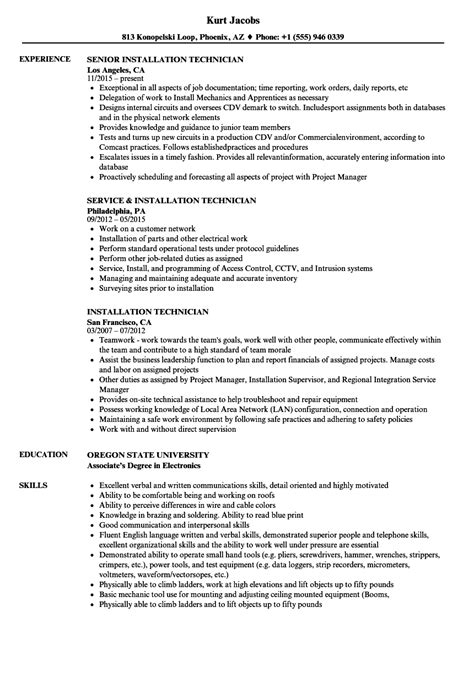resume format for cctv technician awesome cctv experience resume pictures resume exles