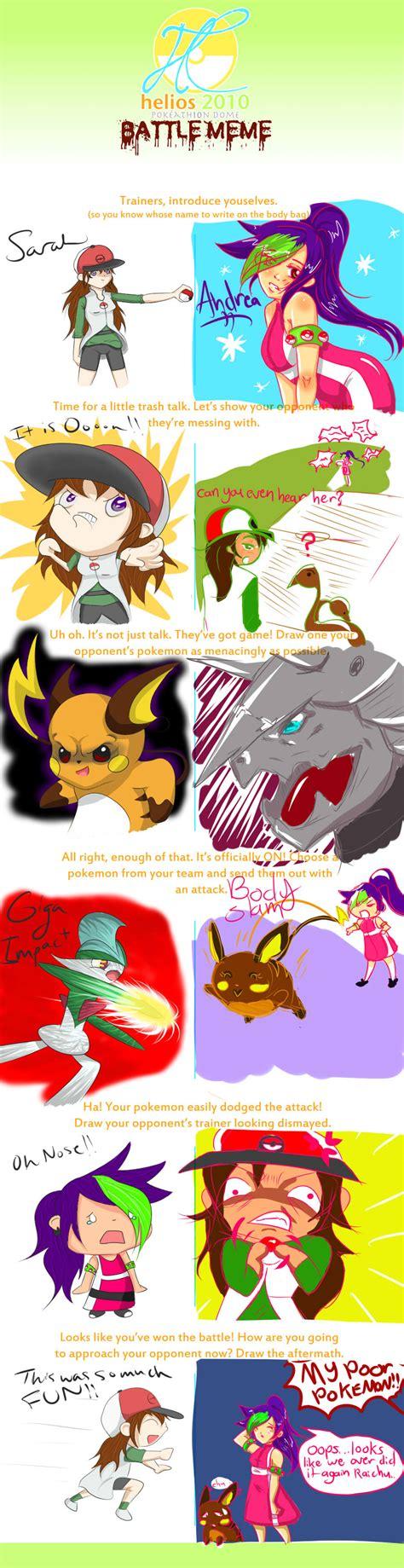 Pokemon Battle Meme - pokemon battle meme by kittykatgamergirl on deviantart