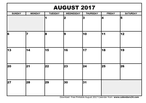 Calendar 2017 August And September Printable August 2017 Calendar September 2017 Calendar