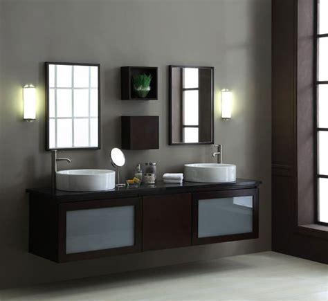 Contemporary BLOX 80 inch Floating Bathroom Vanity Set