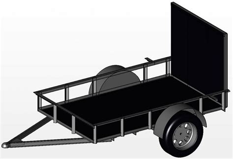 Trailer Plans Archives Free Utility Trailer Plans Building Plans For Utility Trailers