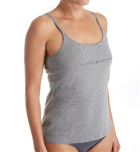 Cotton Camisole Shelf Bra hilfiger cotton lounge shelf bra camisole r90t001
