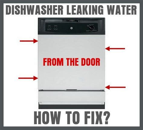 dishwasher leaking ideas  pinterest clean