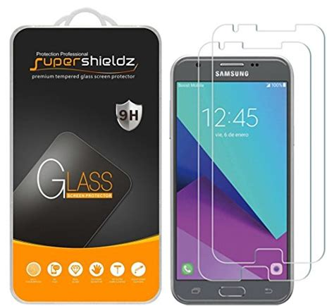 Ultrathin Anti Samsung J3 Pro 2 pack supershieldz for samsung quot galaxy j3 pro quot tempered glass screen protector anti