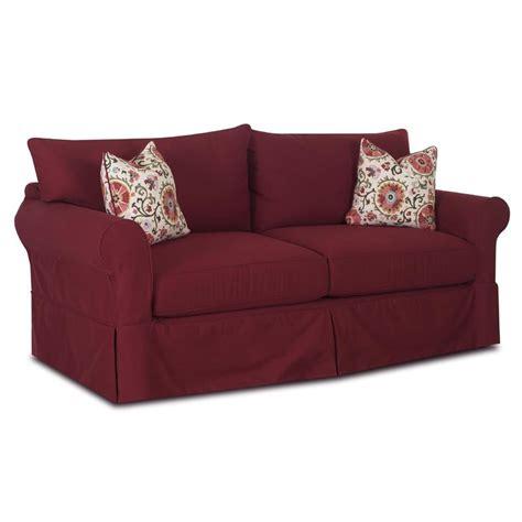 klaussner slipcover sofa klaussner jenny slipcover sofa with skirt hudson s