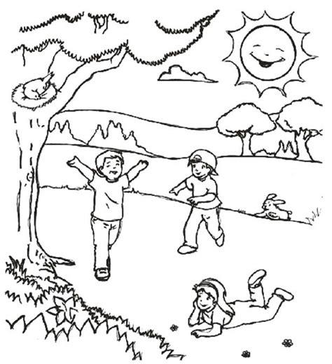 dibujos para colorear primavera dibujos de primavera dibujos para colorear y pintar