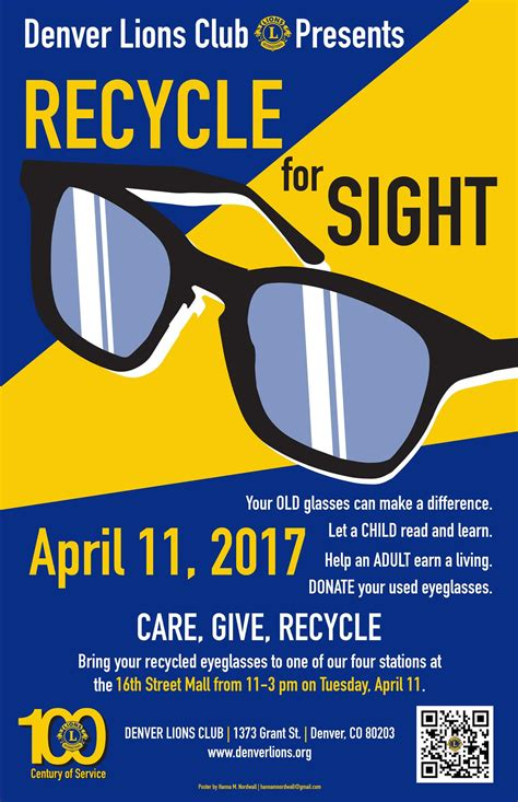 recycle for sight lions club of denver