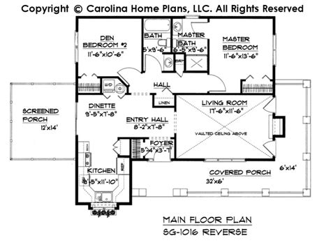 Small Cottage Style House Plan Sg 1016 Sq Ft Affordable 1100 Sf House Plans
