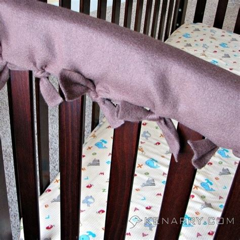 crib rail cover easy idea with no sewing required